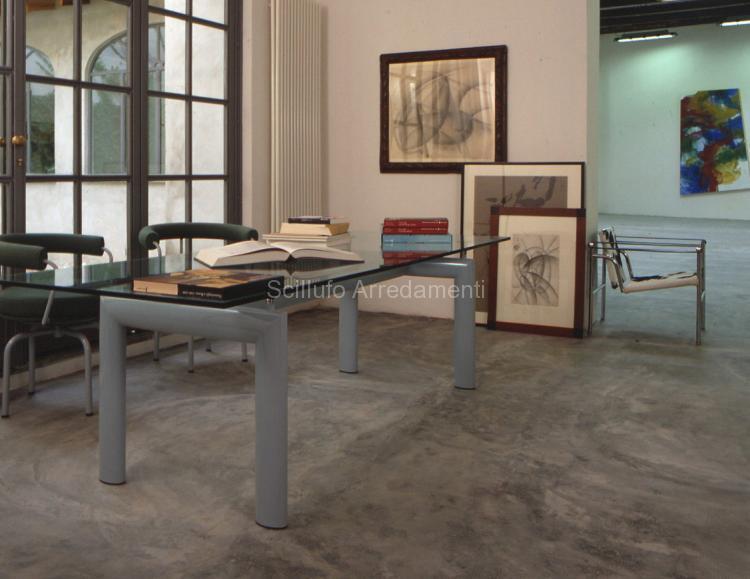 Cassina lc collection lc 6 scillufo arredamenti palermo - Tavolo cristallo le corbusier ...