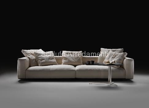 Letti flexform nuova collezione divani scillufo for Divani flexform outlet