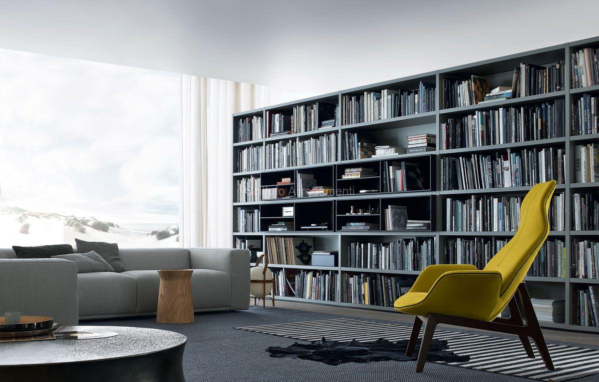 Poliform wall system sistema librerie scillufo for Abitare arredamenti palermo