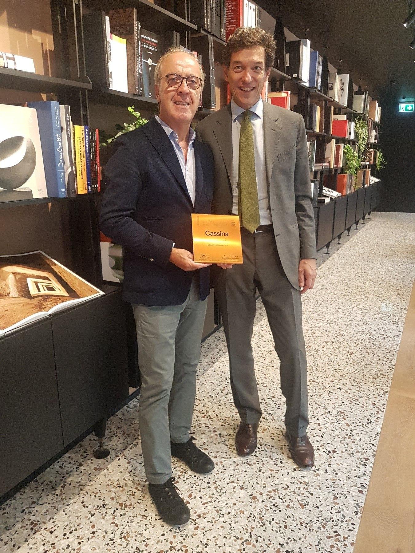 giuseppe scillufo - enrico raggi - cassina best italian dealer 2017 scillufo arredamenti
