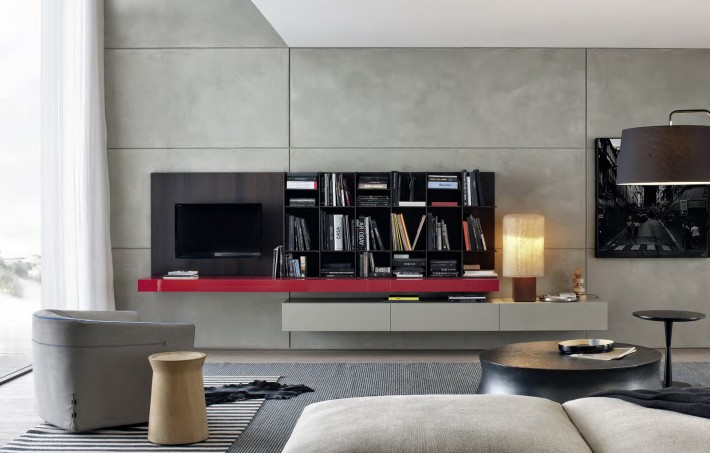 poliform day system nuova collezione librerie. Black Bedroom Furniture Sets. Home Design Ideas
